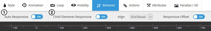 تنظیمات اسلایدر رولوشن واکنش گرا