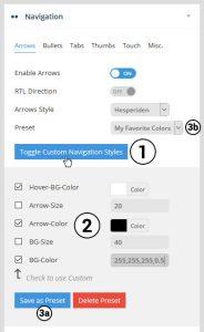 تنظیمات Navigation ، Revolution slider