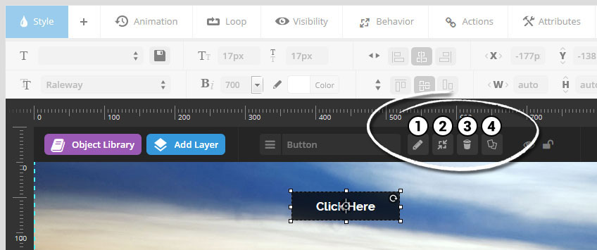 تنظیمات لایه ها در رولوشن اسلایدر