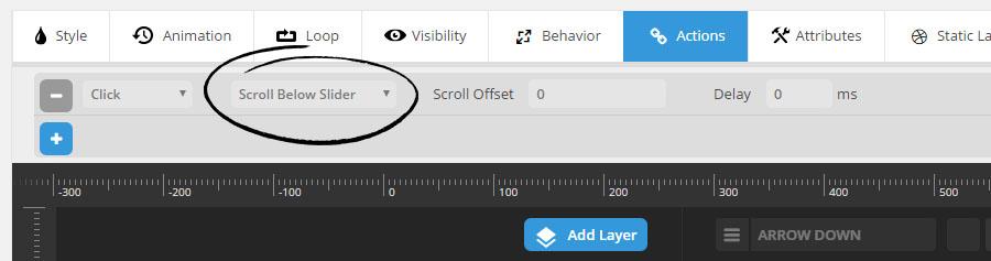 آموزش تصویری ایجاد یک دکمه اسکرول به پایین در اسلایدر