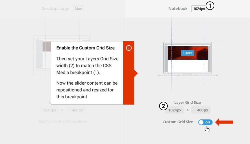 اضافه کردن یک مدیای CSS به اسلایدر رولوشن