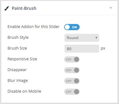 تنظیمات دمو paintbrush رولوشن اسلایدر