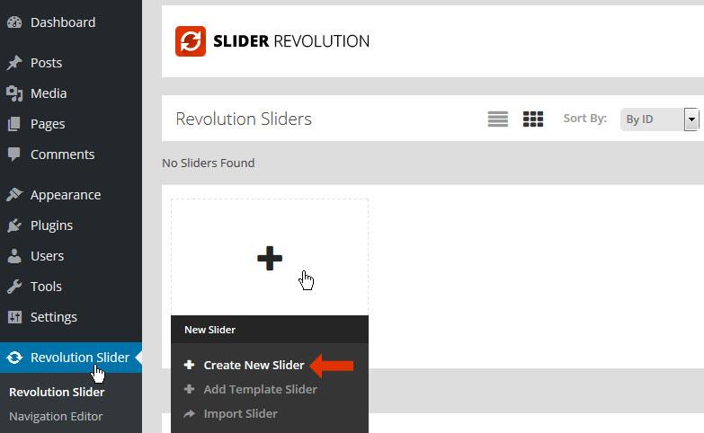 ساخت یک اسلایدر جدید در اسلایدر رولوشن