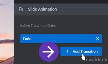 اضافه کردن حالت جدید برای انیمیشن در اسلایدر رولوشن