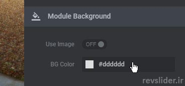 ایجاد تصویر پس زمینه در قسمت layout در اسلایدر رولوشن