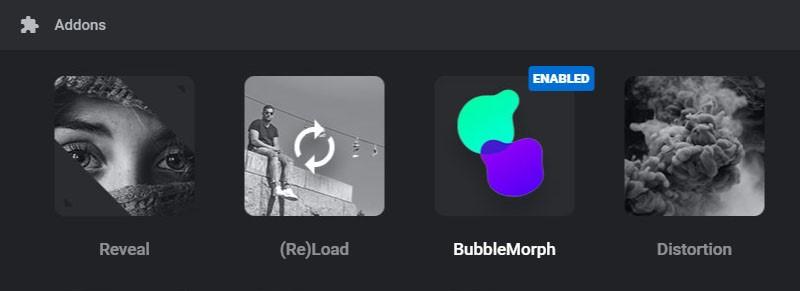 افزونه کمکی BubbleMorph در اسلایدر رولوشن