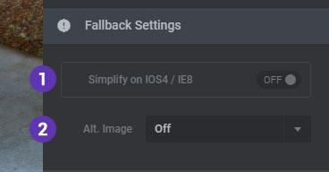 تنظیمات بخش Fallback