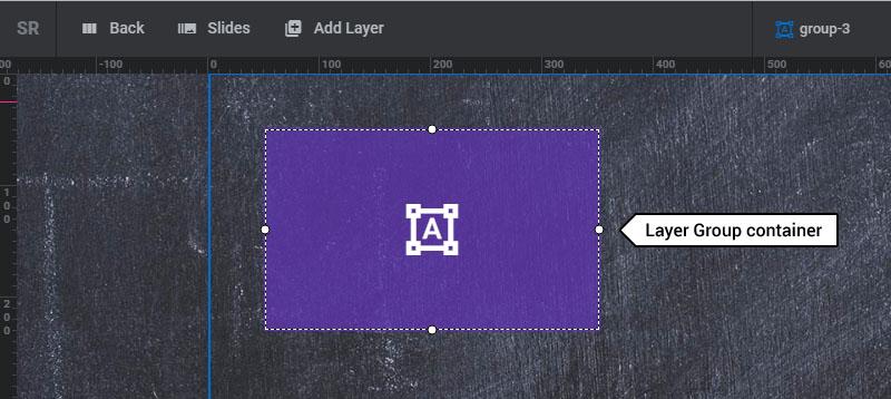 layer group در افزونه اسلایدر وردپرس