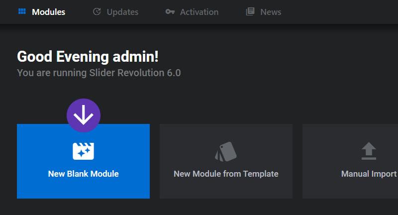 ایجاد یک اسلایدر جدید