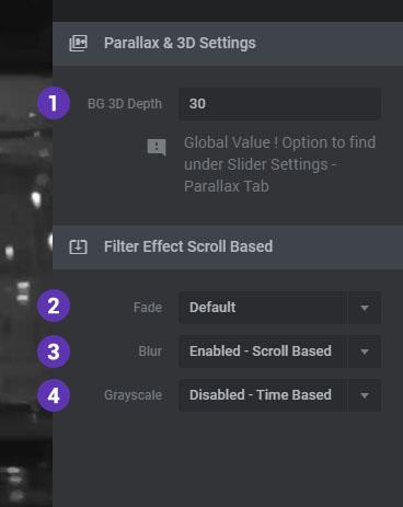 تنظیمات اسکرول اسلایدر وردپرس در On Scroll