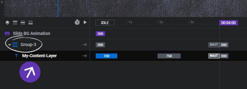 تنظیم زمان لایه ها در layer groups